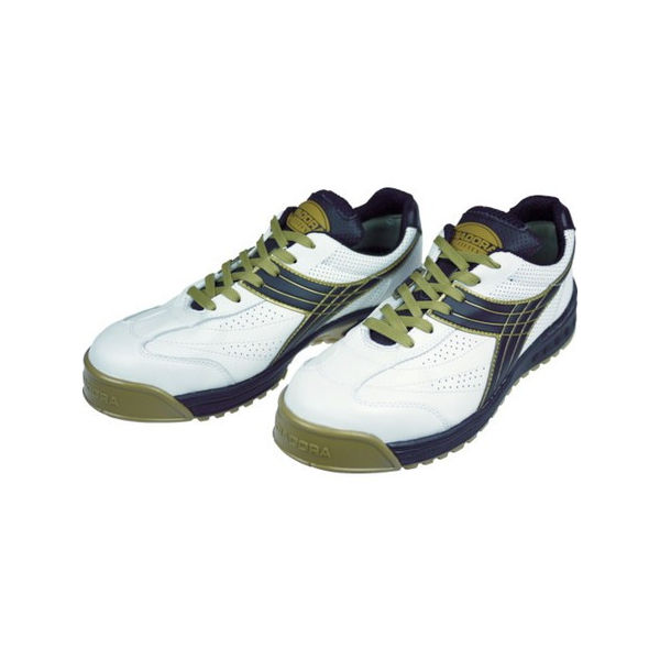 【全品P5倍~10倍】DIADORA 安全作業靴 ピーコック 白/黒 27.5cm ディアドラ PC12275-4321