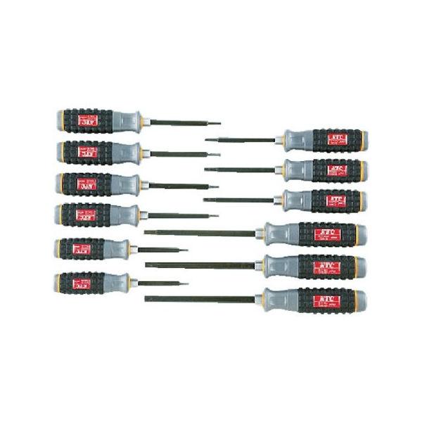 樹脂柄T型トルクスドライバセット[12本組] KTC TD1T12-2285