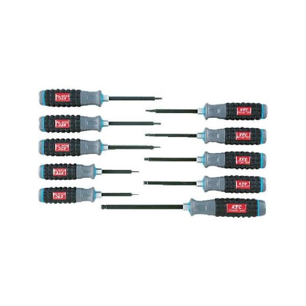 樹脂柄ボールポイントヘキサゴンドライバセット[10本組] KTC TD1HBP10B-2285