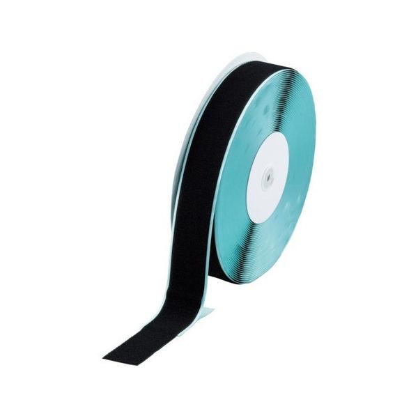 マジックテープ 糊付B側 幅50mmX長さ25m 黒 TRUSCO TMBN5025BK-3100
