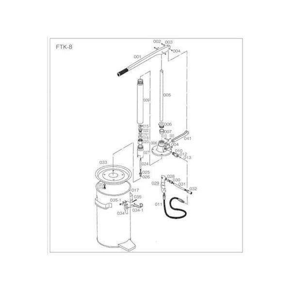 FTK8用 タンク TRUSCO FTK017-1111 トラスコ
