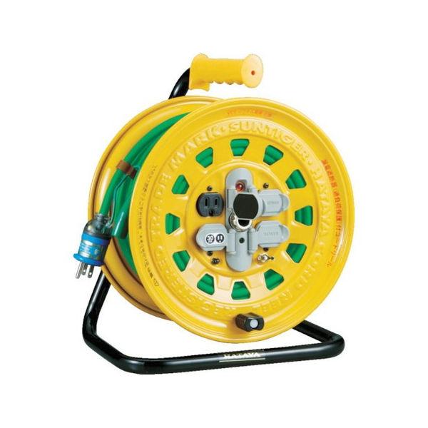 TRUSCO プロソフトケーブルコードリール 30m 漏電防止付き BG-301KXT