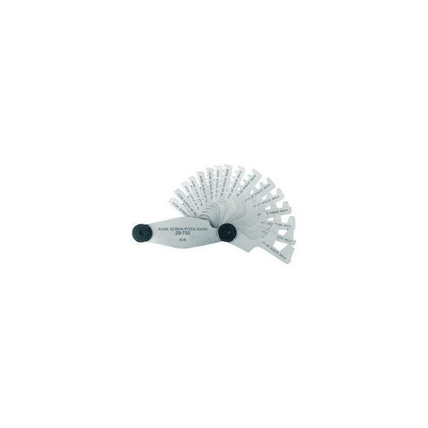 アクメスクリューピッチゲージ 測定範囲2-20mm 12枚組 TRUSCO 30720-4500