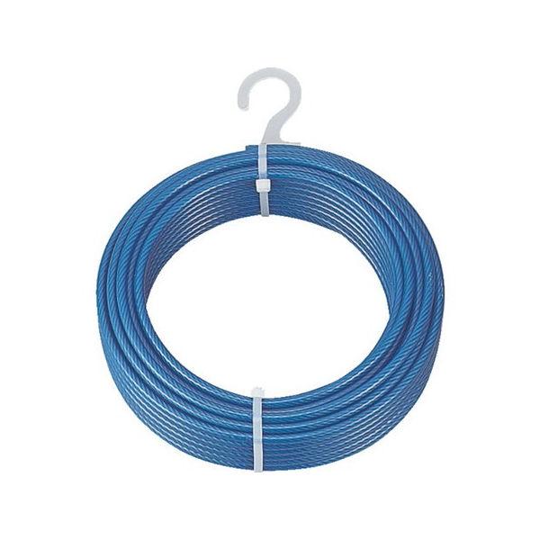 メッキ付ワイヤロープ PVC被覆タイプ Φ2(3)mmX200m TRUSCO CWP2S200-3100