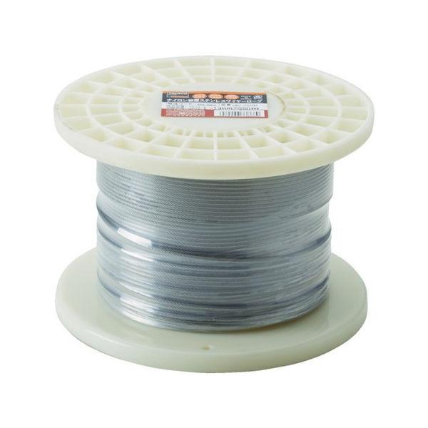 ステンレスワイヤロープ ナイロン被覆 Φ2.0(2.5)mmX20 TRUSCO CWC2S200-3100