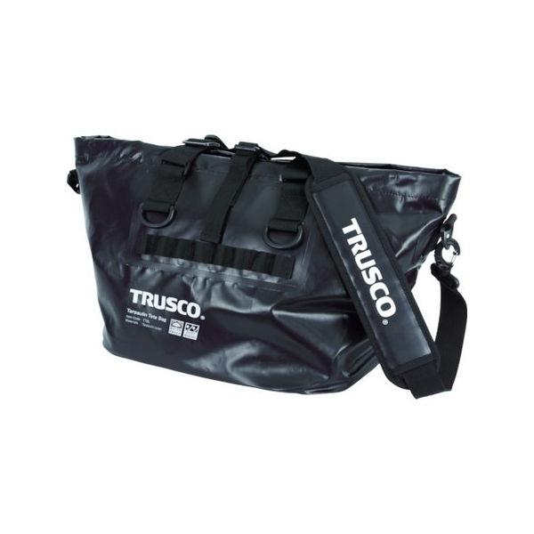 【全品P5倍~10倍】防水ターポリントートバッグ Lサイズ ブラック TRUSCO TTBLBK-3100