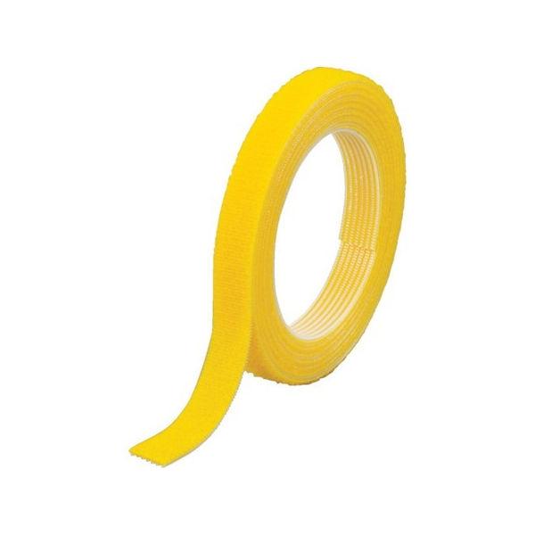 【全品P5倍~10倍】マジックバンド結束テープ 両面 幅40mmX長さ30m 黄 TRUSCO MKT40WY-3100