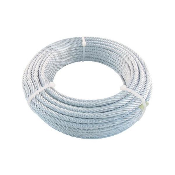 TRUSCO JIS規格品メッキ付ワイヤロープ (6X24)Φ9mmX30m JWM-9S30