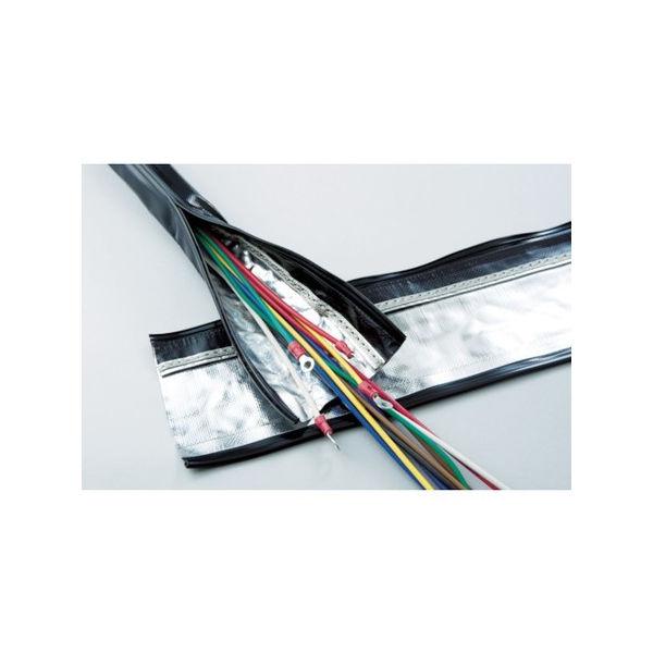 TRUSCO 電磁波シールド結束チューブ ジッパータイプ 15Φ10m SHNF1510