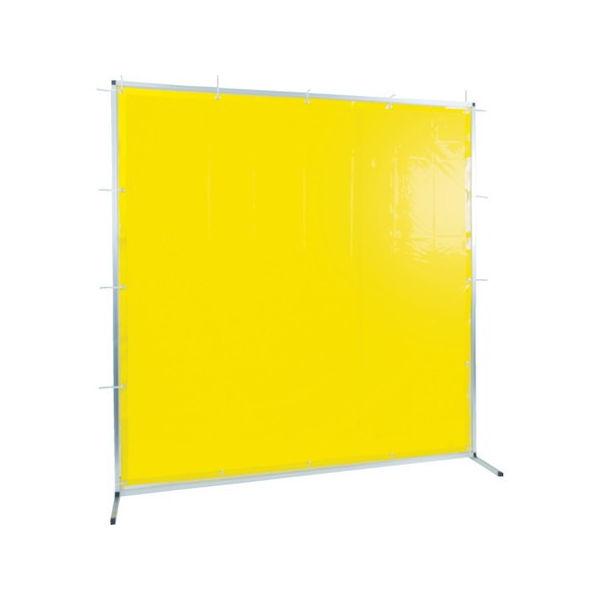 TRUSCO 溶接用遮光フェンス アルミ製 W1500XH1500 イエロー TYAF1515Y