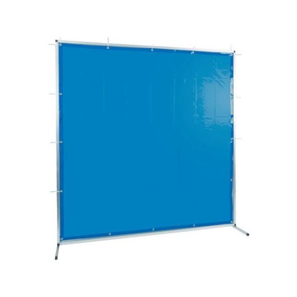 TRUSCO 溶接用遮光フェンス アルミ製 W2000XH1500 ブルー TYAF2015B