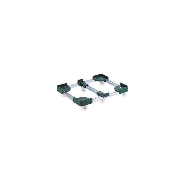 伸縮式コンテナ台車 内寸300-400X900-1000 スチール TRUSCO FCD63090-8000