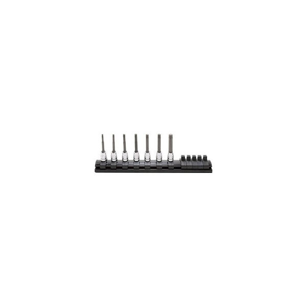 6.35mm差込 Z-EALトルクスビットソケットレールセット7ヶ組 コーケン RS2025Z7L50-2195