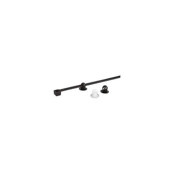 【全品P5倍~10倍】ケーブルタイ固定具 押込み型 4.5mm 黒 (1000個) SapiSelco SUB.3.2301-3387