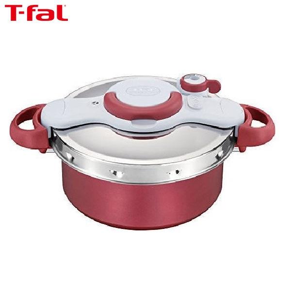 【送料無料】T-fal (ティファール) クリプソ ミニット デュオレッド圧力鍋 5.2L P4605136