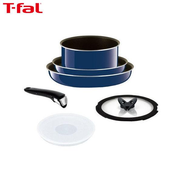 【送料無料】T-fal (ティファール) 鍋 フライパン 6点セット インジニオ・ネオ グランブルー・プレミア L61490