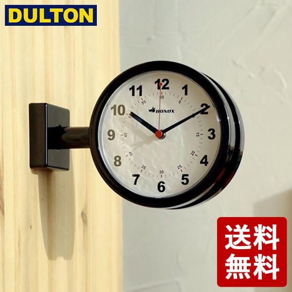 両側から時間が見えるから リビングとキッチンの中間地点などに 家じゅうみんなが見つめる存在に DULTON ダブルフェイスクロック 予約販売品 170D ブラック DIY ダルトン S624-659BK 男前 シンプル 流行のアイテム インダストリアル 両面時計