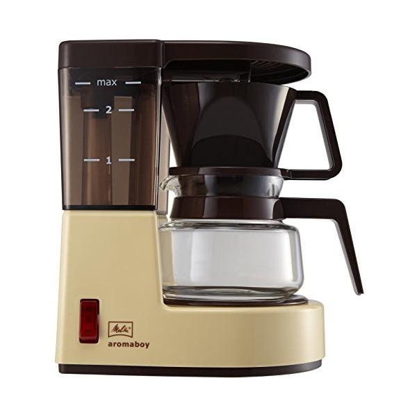 【全品P5~10倍】Melitta(メリタ) コーヒーメーカー アロマボーイ 1杯用 MKM-251 /C:neut PLOTS