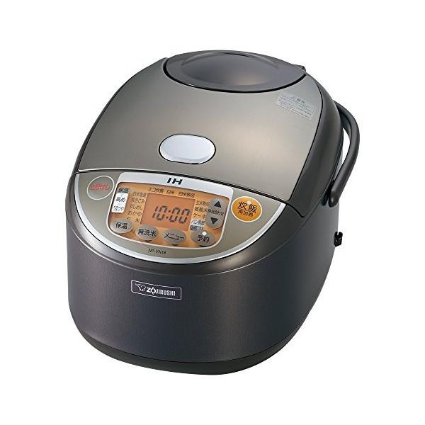 【全品P5倍~10倍】象印(ZOJIRUSHI) 炊飯器 IH式 極め炊き 1升 ブラウン NP-VN18-TA