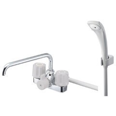 【全品P5倍~10倍】ツーバルブデッキシャワー混合栓 SK71-LH 三栄水栓製作所 SB8140