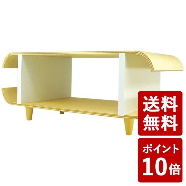 【送料無料&ポイント10倍】ヤマト工芸 TVボード マカロン ホワイト YK09-125