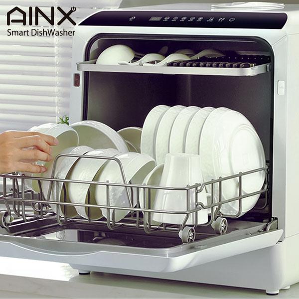 【P10倍】AINX 工事がいらない 卓上型 電気 食器洗い乾燥機 AX-S3W ホワイト コンパクト 面倒な工事不要 アイネクス