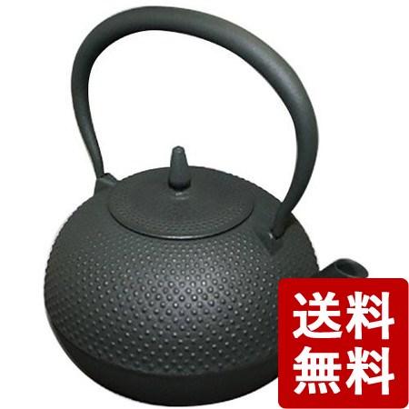 【送料無料】南部鉄瓶 梔子 1.2L 黒(ブラック) 日本製