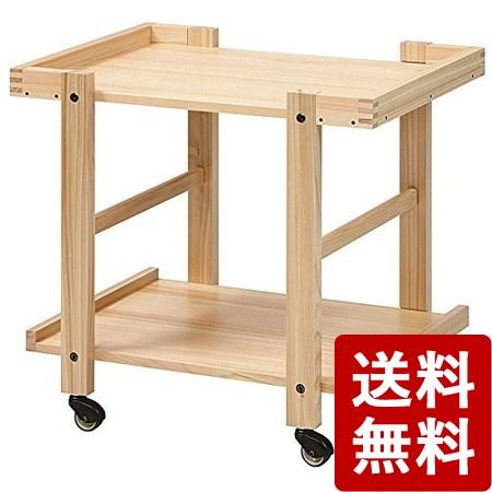 【送料無料】T型キッチンワゴン(ウォールナット) 110003 光大産業