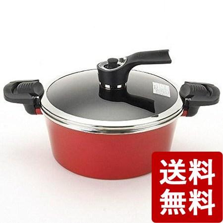 【送料無料】京セラ セラブリッド調理なべしみこみシェフ 赤 CND-24-BRD