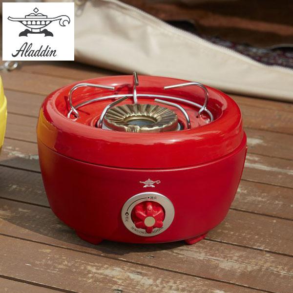 センゴクアラジン ポータブル ガス カセットコンロ ヒバリン レッド SAG-HB01-R Aladdin Portable Gas Series