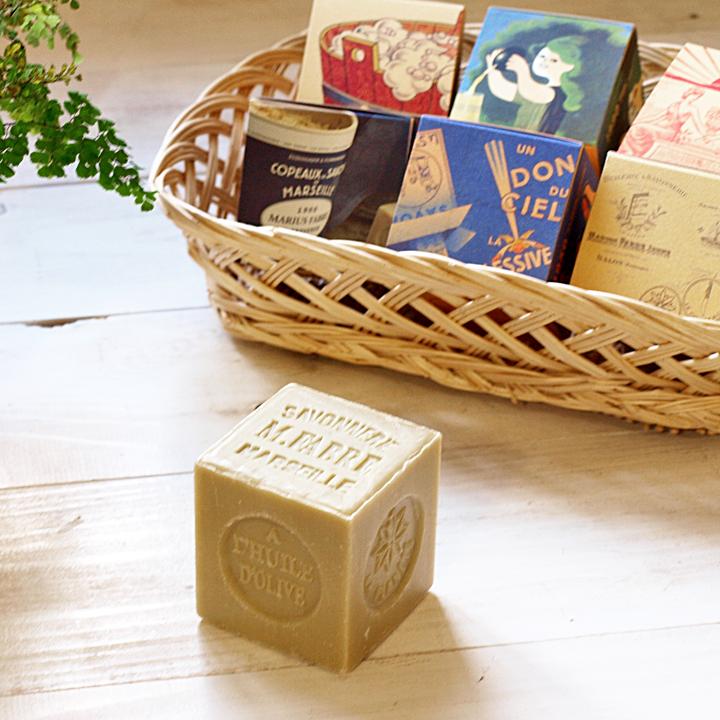 サボン ド マルセイユ 石鹸 BOX オリーブ 200g 6個入り デザインボックスセット