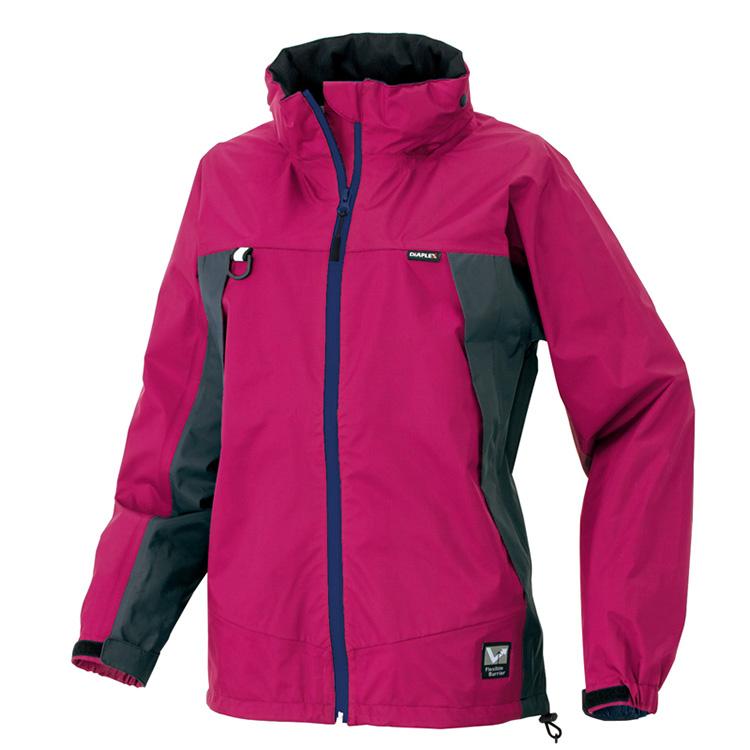 工作服工作服雷恩服裝全氣候型女士茄克防水濕氣傳遞雨衣女士女性眼睛托球AITOZ IIS-56312粉紅藍色薄荷綠色深藍木炭7號9號11號13號15號