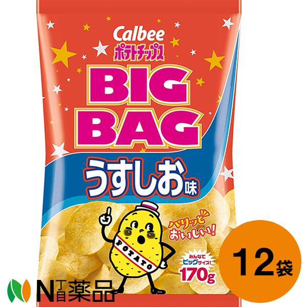 カルビー ポテトチップス ビッグバッグ うすしお味170g×12個セット 送料無料 安い 新商品