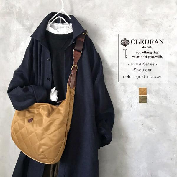CLEDRAN [クレドラン] 「ROTA」ロタ ショルダー ユニセックス CL-3021 gold×brown/olive×choco