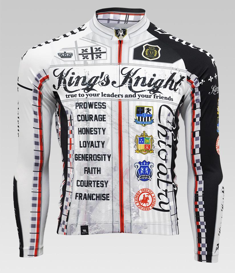 【VALETTE/バレット】King's Knight(キングスナイト)長袖ジャージ【サイクルジャージ/サイクルウェア/自転車/レプリカ/サイクル/ロードバイク/ウェア/ユニフォーム/ランニングウェア/フィットネスウェア】