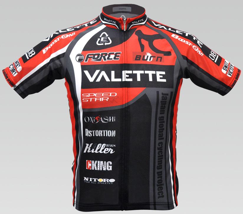 【VALETTE/バレット】SPEEDII FORCE(スピードII フォース)RED(レッド) 半袖 VALETTE A-LINE【サイクルジャージ/サイクルウェア/自転車/レプリカ/サイクル/ロードバイク/ウェア/ユニフォーム/ランニングウェア/フィットネスウェア】
