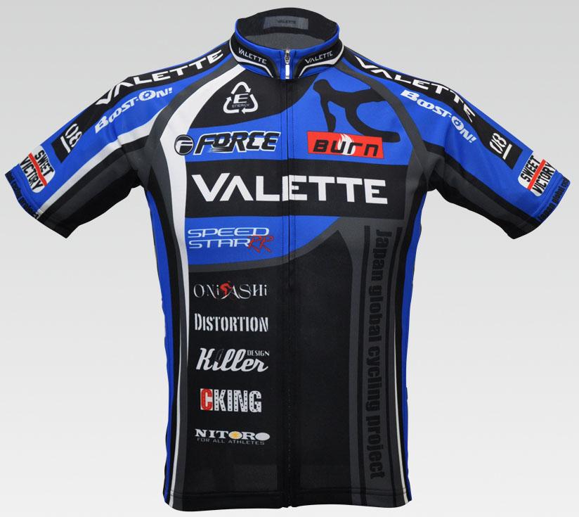 【VALETTE/バレット】SPEEDII FORCE(スピードII フォース)BLUE(ブルー) 半袖 VALETTE A-LINE【サイクルジャージ/サイクルウェア/自転車/レプリカ/サイクル/ロードバイク/ウェア/ユニフォーム/ランニングウェア/フィットネスウェア】