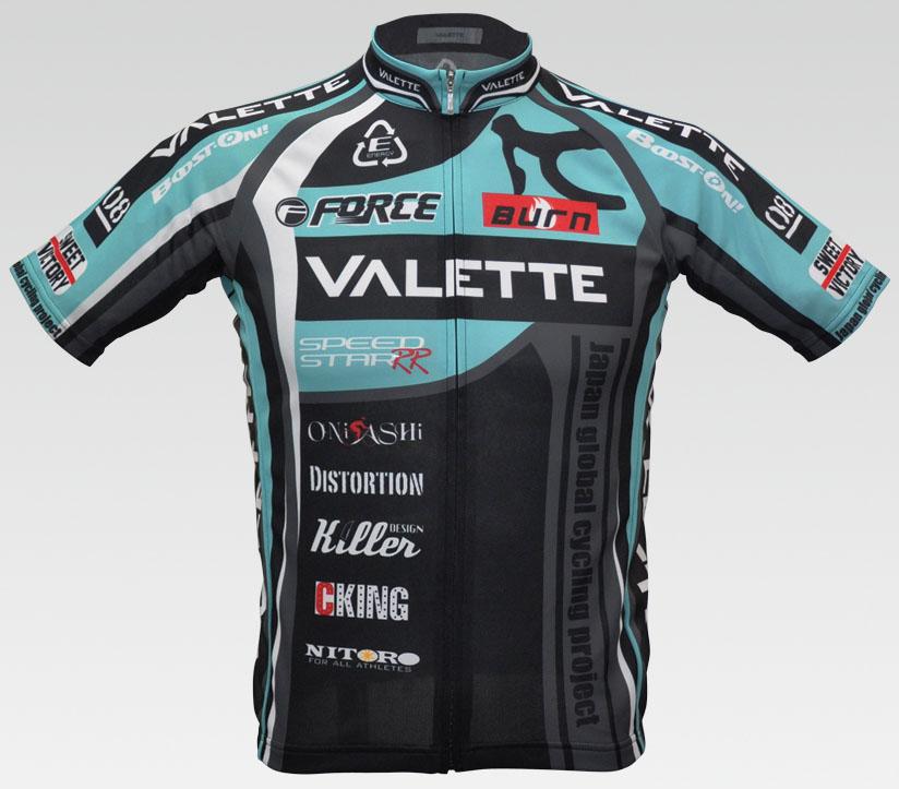 【VALETTE/バレット】SPEEDII FORCE(スピードII フォース)CELESTE(チェレステ) 半袖 VALETTE A-LINE【サイクルジャージ/サイクルウェア/自転車/レプリカ/サイクル/ロードバイク/ウェア/ユニフォーム/ランニングウェア/フィットネスウェア】