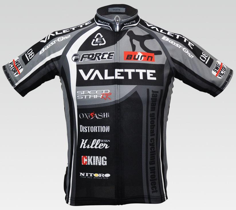 【VALETTE/バレット】SPEEDII FORCE(スピードII フォース)GRAY(グレー) 半袖 VALETTE A-LINE【サイクルジャージ/サイクルウェア/自転車/レプリカ/サイクル/ロードバイク/ウェア/ユニフォーム/ランニングウェア/フィットネスウェア】