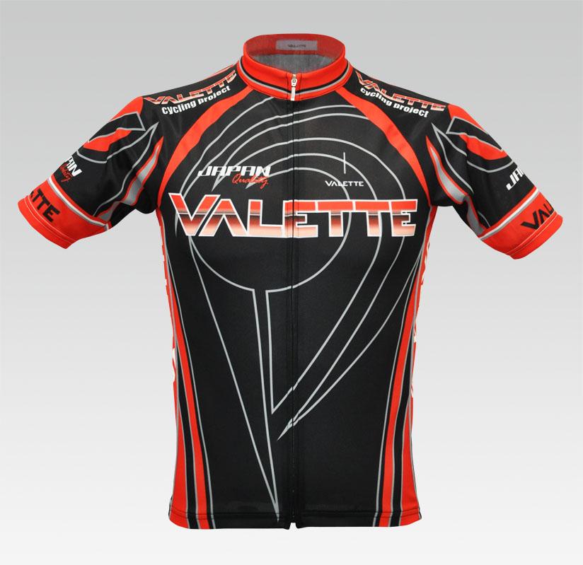 【VALETTE/バレット】Podium(ポディウム)Black/Red(ブラック/レッド) 半袖 VALETTE A-LINE【サイクルジャージ/サイクルウェア/自転車/レプリカ/サイクル/ロードバイク/ウェア/ユニフォーム/ランニングウェア/フィットネスウェア】