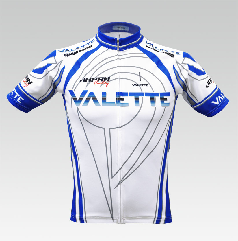【VALETTE/バレット】Podium(ポディウム)White/Blue(ホワイト/ブルー) 半袖 VALETTE A-LINE【サイクルジャージ/サイクルウェア/自転車/レプリカ/サイクル/ロードバイク/ウェア/ユニフォーム/ランニングウェア/フィットネスウェア】