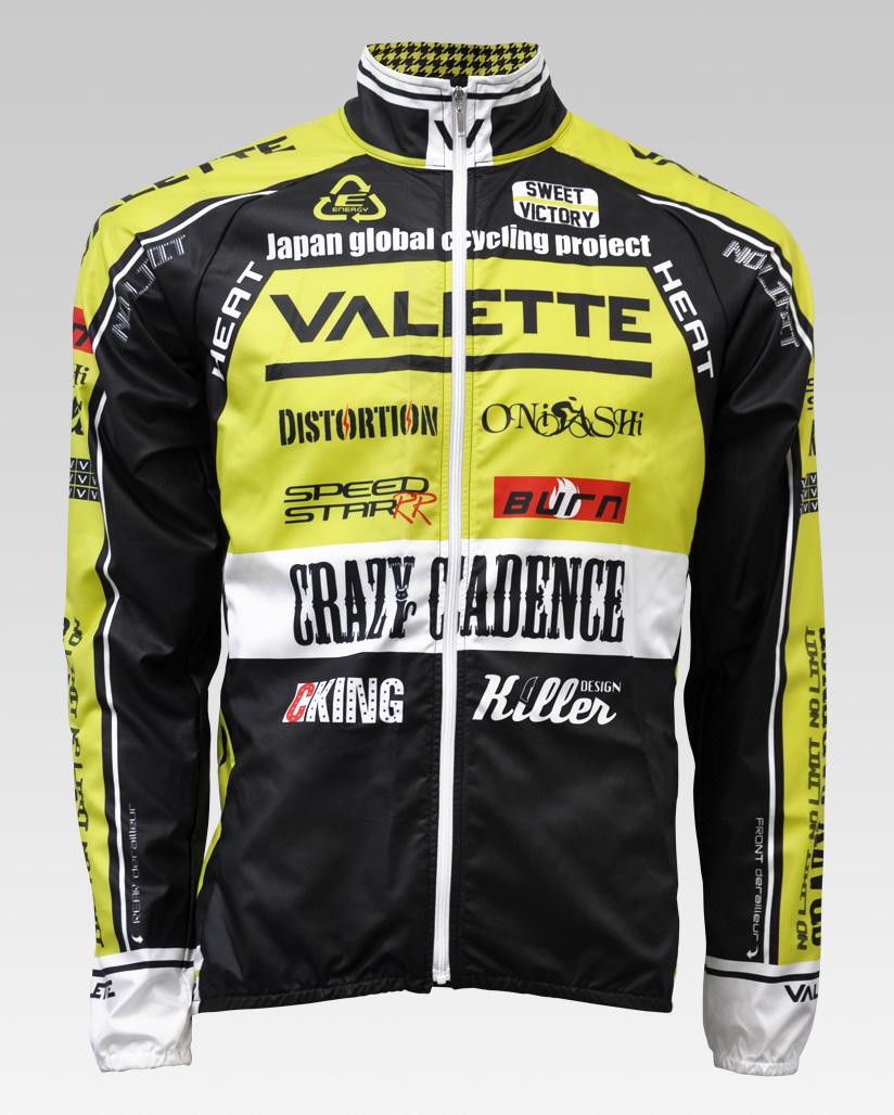 【VALETTE/バレット】SPEED (スピード)Limeyellow( ライムイエロー) ウインドブレーカー VALETTE A-LINE【サイクルジャージ/サイクルウェア/自転車/レプリカ/サイクル/ロードバイク/ウェア/ユニフォーム/ランニングウェア/フィットネスウェア】