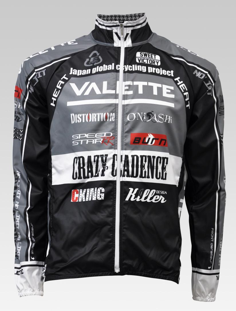 【VALETTE/バレット】SPEED (スピード)Glay( グレー) ウインドブレーカー VALETTE A-LINE【サイクルジャージ/サイクルウェア/自転車/レプリカ/サイクル/ロードバイク/ウェア/ユニフォーム/ランニングウェア/フィットネスウェア】