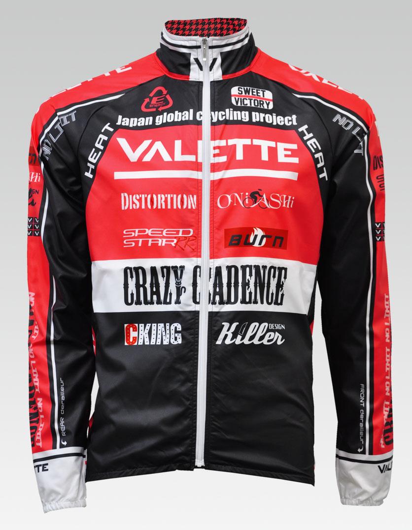 【VALETTE/バレット】SPEED (スピード)Red( レッド) ウインドブレーカー VALETTE A-LINE【サイクルジャージ/サイクルウェア/自転車/レプリカ/サイクル/ロードバイク/ウェア/ユニフォーム/ランニングウェア/フィットネスウェア】