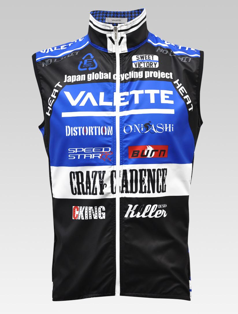 【VALETTE/バレット】SPEED (スピード)Blue( ブルー) ウインドベスト VALETTE A-LINE【サイクルジャージ/サイクルウェア/自転車/レプリカ/サイクル/ロードバイク/ウェア/ユニフォーム/ランニングウェア/フィットネスウェア】