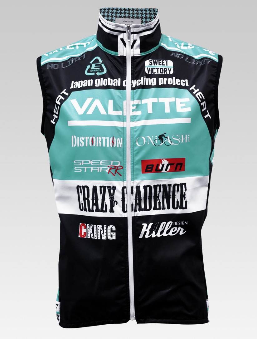 【VALETTE/バレット】SPEED (スピード)CELESTE( チェレステ) ウインドベスト VALETTE A-LINE【サイクルジャージ/サイクルウェア/自転車/レプリカ/サイクル/ロードバイク/ウェア/ユニフォーム/ランニングウェア/フィットネスウェア】