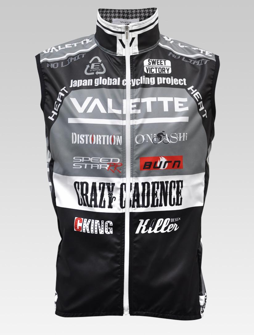 【VALETTE/バレット】SPEED (スピード)Glay( グレー) ウインドベスト VALETTE A-LINE【サイクルジャージ/サイクルウェア/自転車/レプリカ/サイクル/ロードバイク/ウェア/ユニフォーム/ランニングウェア/フィットネスウェア】