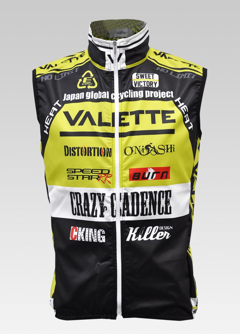 【VALETTE/バレット】SPEED (スピード)Limeyellow( ライムイエロー) ウインドベスト VALETTE A-LINE【サイクルジャージ/サイクルウェア/自転車/レプリカ/サイクル/ロードバイク/ウェア/ユニフォーム/ランニングウェア/フィットネスウェア】