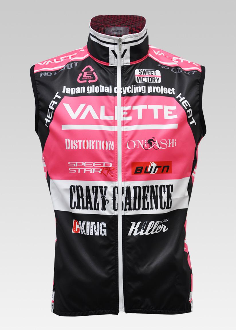 【VALETTE/バレット】SPEED (スピード)Pink( ピンク) ウインドベスト VALETTE A-LINE【サイクルジャージ/サイクルウェア/自転車/レプリカ/サイクル/ロードバイク/ウェア/ユニフォーム/ランニングウェア/フィットネスウェア】