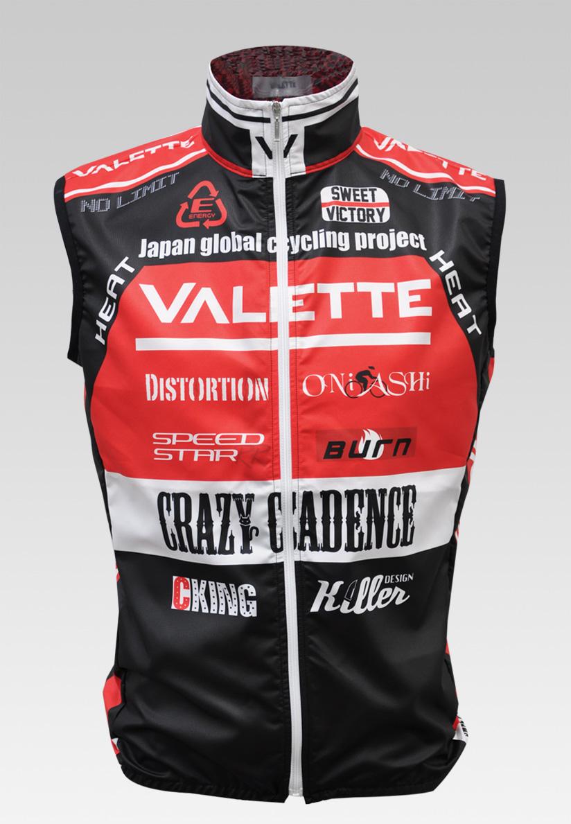 【VALETTE/バレット】SPEED (スピード)Red( レッド) ウインドベスト VALETTE A-LINE【サイクルジャージ/サイクルウェア/自転車/レプリカ/サイクル/ロードバイク/ウェア/ユニフォーム/ランニングウェア/フィットネスウェア】